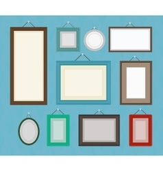 Different color blank picture frame template vector image
