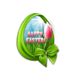 easter egg with ribbons bow vector image