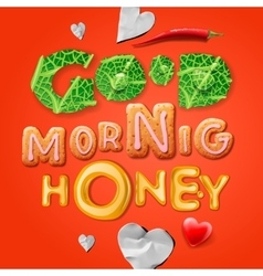 Good morning honey vector image vector image