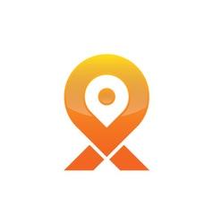 Location map logo vector