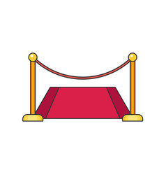 red carpet flat vector image