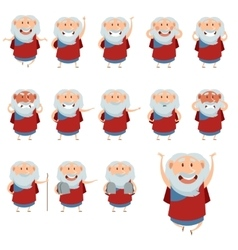Set of Moses icons3 vector image vector image
