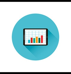 tablet graph vector image vector image