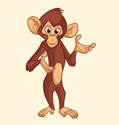cartoon monkey smiling vector image vector image