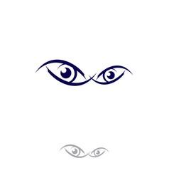 eyes logo template circle vision vector image