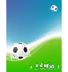 football background for your design vector image vector image
