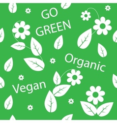 Go green background vector image vector image