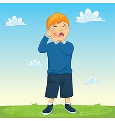 Kid Tooth Pain vector image vector image