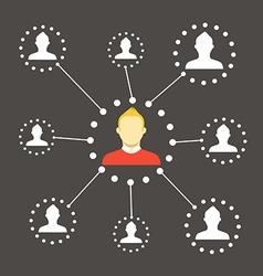 Modern web media network scheme Flat design vector image vector image