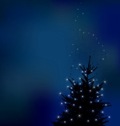 winter background Christmas tree ill vector image vector image
