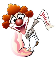 Clown with a gun vector image vector image