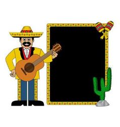 Hispanic man wearing a hat and with a guitar vector image