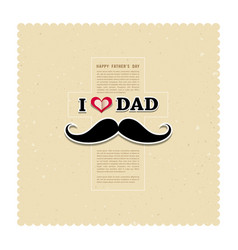 I Love My Dad on recycled paper background vector image