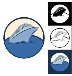 logos of cruise ships vector image vector image