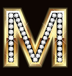 m bling vector image vector image