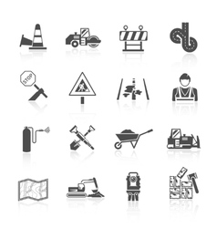Road Worker Icon vector image