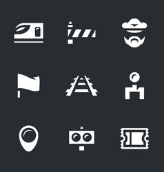 set of train icons vector image