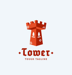 tower as a letter t abstract sign emblem vector image