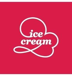 Ice Cream Cone Logo vector image vector image