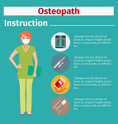 medical equipment instruction for osteopath vector image