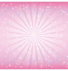 mosaic background with rays vector image