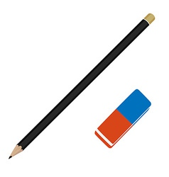 Pencil and eraser vector image