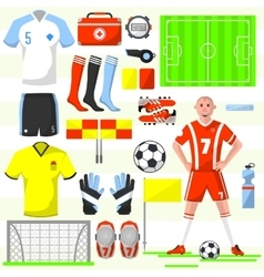 Set of football soccer icons vector image