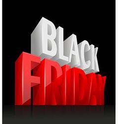 3D Black Friday vector image