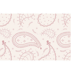 Aesthetic paisley background pink feminine vector