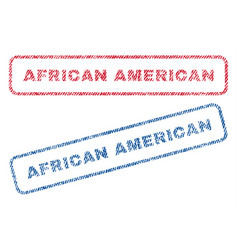 African american textile stamps vector