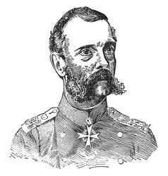 Alexander ii of russia vintage vector