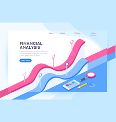 Analysis financial administration concept vector