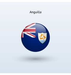 Anguilla round flag vector image