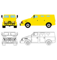 Armored money vehicle vector