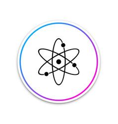 atom icon isolated on white background vector image