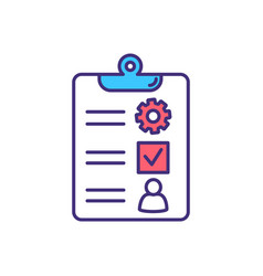 audit rgb color icon vector image