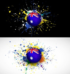 Australia flag with soccer ball dash on colorful vector