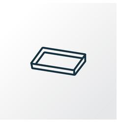 baking sheet icon line symbol premium quality vector image