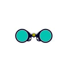 binocular graphic design template isolated vector image