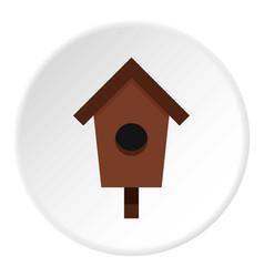 Birdhouse icon circle vector