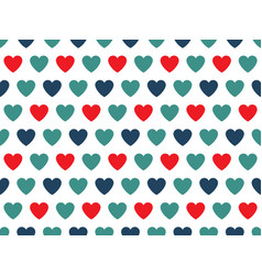 blue and red heart shape pattern vector image
