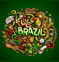Brazil hand drawn cartoon doodles vector