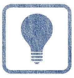 Bulb fabric textured icon vector
