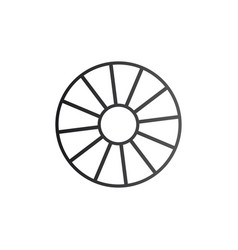 cart wheel icon isolated on white background vector image