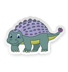 Cartoon ankylosaurus cute little baby dinosaur vector