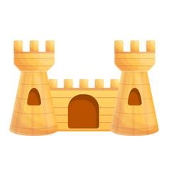 castle aquarium icon cartoon style vector image