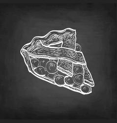 Chalk sketch cherry pie vector