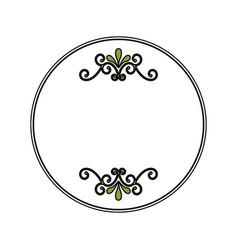 Christmas traditional frame icon vector