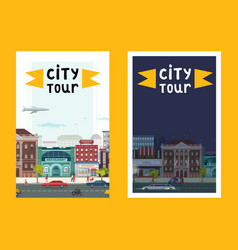 city tour set banners posters vector image