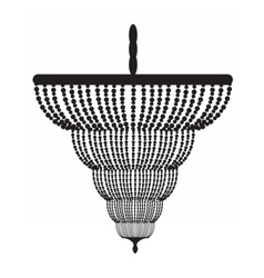 Classic baroque chandelier vector image